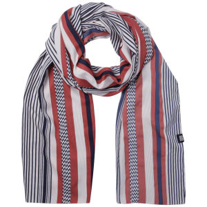Vero Moda Women's Hakima Long Scarf - Blue/White/Red