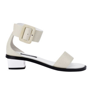 Senso Women's Jolie I Croc Leather Heeled Sandals - White