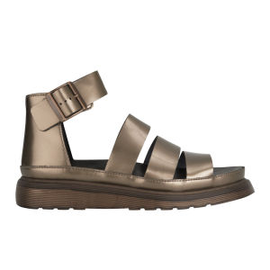 Dr. Martens Women's Clarissa Chunky Strap Patent Leather Sandals - Copper