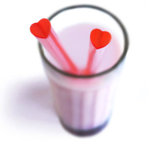 Heart Shaped Drinking Straws - Pack of 20