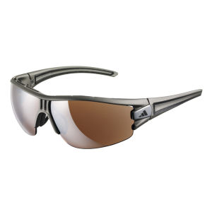 adidas Evil Eye Halfrim Wrap Sunglasses - Matt Silver/Black - S