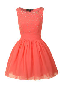 Little Mistress Women's Princess Prom Dress - Coral