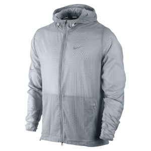 Nike Men's Printed Hurricane Jacket - Wolf Grey