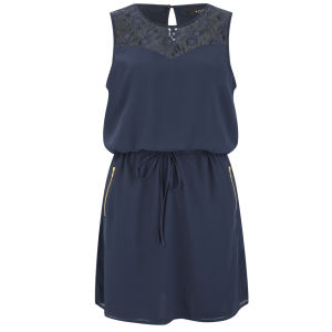 VILA Women's Titra Summer Dress - Navy