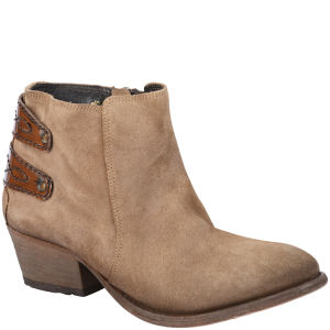 H Shoes by Hudson Women's Rosse Suede Ankle Boots - Beige