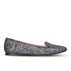 Just Ballerinas Women's Glitter Slippers - Piombo