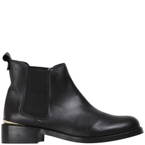 KG Kurt Geiger Women's Short Leather Chelsea Boots - Black