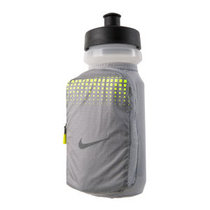 Nike Handheld Water Bottle 22oz - Silver/Volt