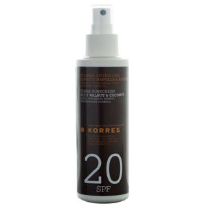 Korres Walnut & Coconut Clear Body Sunscreen SPF20 150ml