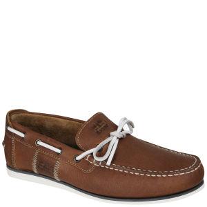Barbour Men's Aldis Leather Boat Shoe - Brown