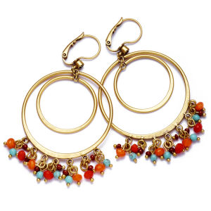 Hultquist Coral and Turquoise Earrings