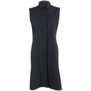 Joseph Women's Poplin and Georgette Richards Dress - Navy
