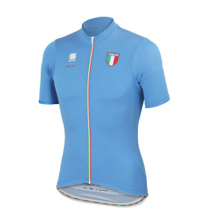 Sportful Italia ES Short Sleeve Jersey - Blue