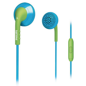 Philips Universal In-Ear Headset: Blue and Green