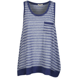 Brave Soul Women's Melrose Striped Vest - Blue