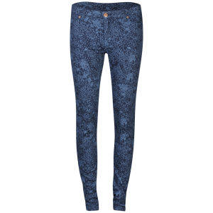2nd One Women's Floral Printed Jeans - Navy