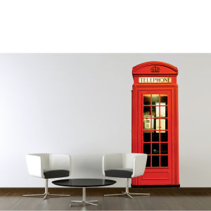 London Red Telephone Box Giant Wall Sticker