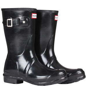 Hunter Women's Original Gloss Short Wellies - Black