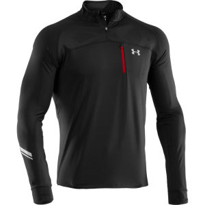 Under Armour Men's Run 1/4 Zip Jacket - Black/Red/Reflective