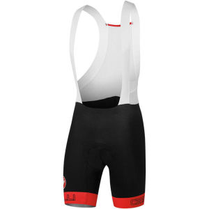 Castelli Bodypaint 2.0 Bib Shorts - Black/Red
