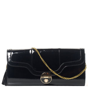 Stylist Pick 'Gloria' Patent Clutch - Black