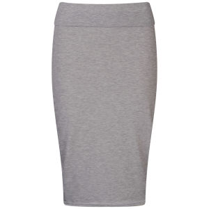 Influence Women's Jersey Midi Pencil Skirt - Grey Marl
