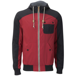 Brave Soul Men's Camden Jacket - Red/Navy