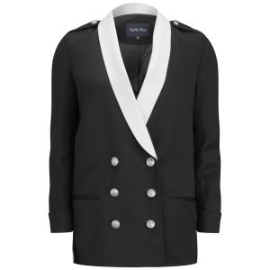 April, May Women's Zigzag Zone Oversize Blazer - Black