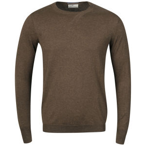 Boxfresh Men's Gafna 14 Gauge Crew Neck Sweater - Brown Marl