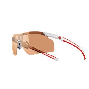 adidas Adizero Tempo Halfrim Sunglasses - White/Red - S