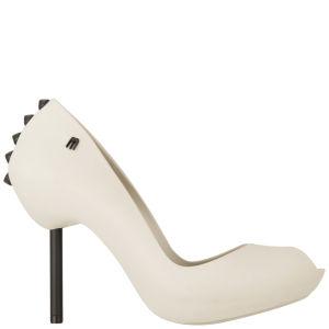 Melissa Women's Spikes 11 Peep Toe Heels - Ivory/Black