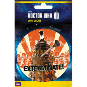 Doctor Who Dalek Exterminate - Vinyl Sticker - 10 x 15cm