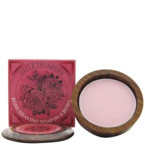 Trumpers Wooden Shave Bowl - Rose (Normal/Sensitive) (80g)
