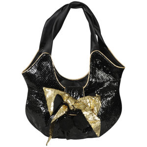 Irregular Choice Delilah Slouch Bag - Black/Gold