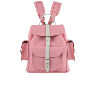 Grafea Candy Crush Medium Leather Rucksack - Pink/White