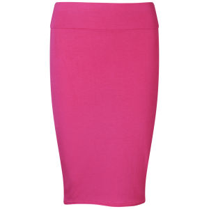 Influence Women's Jersey Midi Pencil Skirt - Hot Pink