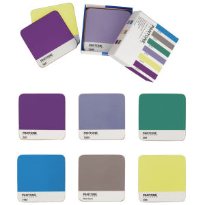 Pantone Universe Mixed Coasters Set of 6 - Interior Tones