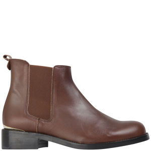 KG Kurt Geiger Women's Short Leather Chelsea Boots - Brown