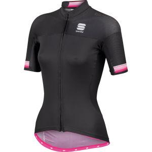 Sportful Bodyfit Pro Full Zip Jersey - Black/Pink