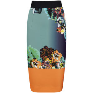 MILLY Women's Long Pencil Skirt - Multi