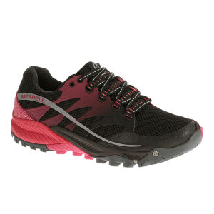 Merrell Women's All Out Charge Trail Running Shoes - Black/Geranium