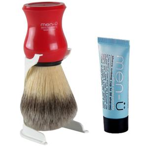 men-u Premier Shaving Brush - Red