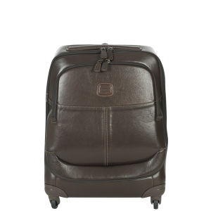 Bric's Life Pelle 55cm 4 Wheel Trolley Case - Dark Brown