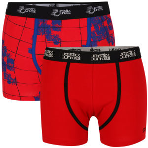Joystick Junkies Men's Two Pack Boxers - Red Pattern / Red