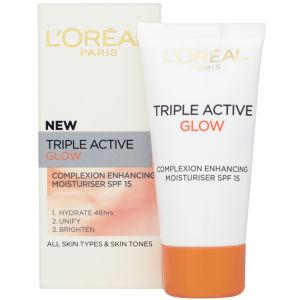 L'Oreal Paris Dermo Expertise Triple Active Glow Complexion Enhancing Moisturiser SPF15 (50ml)