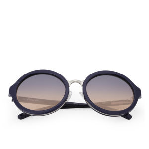 3.1 Phillip Lim Round Acetate Sunglasses - Navy