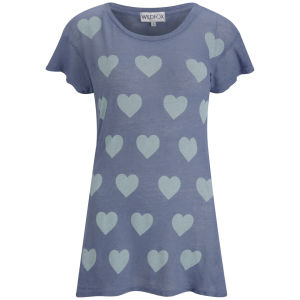 Wildfox Women's Ocean Hearts T-Shirt - Night Run
