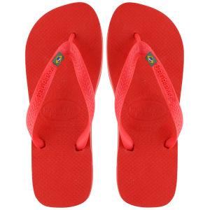 Havaianas Unisex Brasil Flip Flops - Red