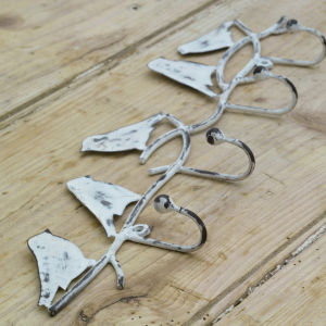 Nkuku Bird Hook - Distressed Grey
