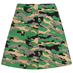 Carven Women's Camo Skirt - Green